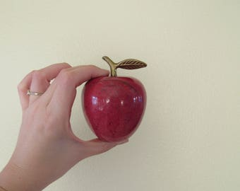 Marble and Brass Apple