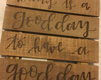 TODAY wood Pallet Style sign