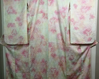 Pastel  shibori Furisode Traditional Japanese kimono
