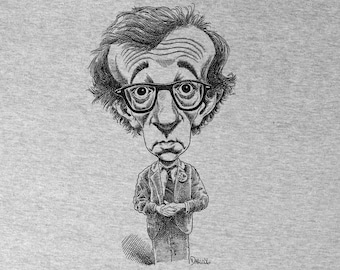 Woody Allen Screen Printed Shirt
