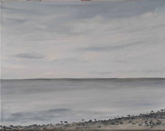 Original Oil Painting - Beach Painting - Seascape - Sea  - 8 x 10