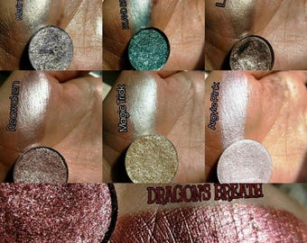 Bundle Deal Full Chrome Collection. All 7 Ultra Foiled Eyeshadow 26mm Pan size