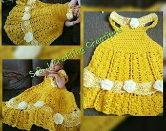 Princess Belle Dress Blanket ~ Toddler to Adult Sizes