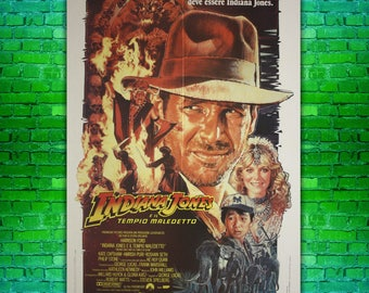 Original Vintage Movie Poster Indiana Jones and the Temple of Doom