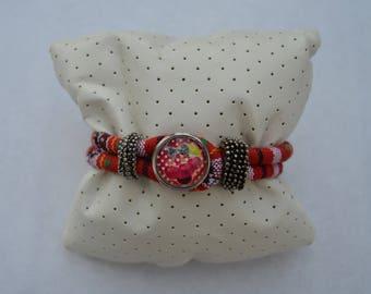 Cherry Red chunk bracelet