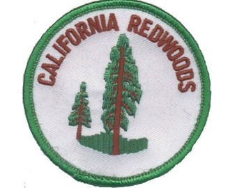 California Redwoods Patch - CA Sequoia, Green (Iron on)