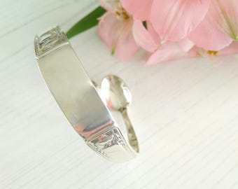 Spoon Bangle 1930 Solid Silver