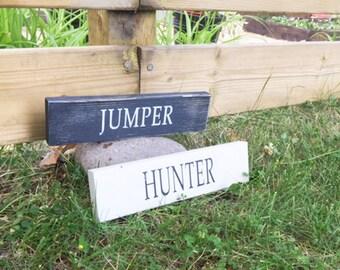 Equestrian -Jumper - Equestrian - Wood Signs- Shelf Signs - Horse - Pony - Equine - Barn Sign - Rustic Home Decor - Barn - Farmhouse Signs