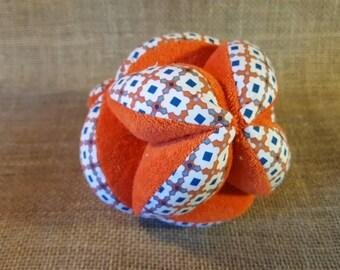 Ball colored organic cotton montessori, grasping motor skills, eco-friendly baby toy baby ball, ball organic baby organic cotton baby puzzle ball
