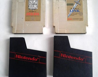 The Legend of Zelda 1+2: The Adventure of Link (NES LOT) Authentic with Dust protector- Tested