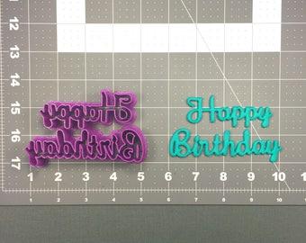 Happy Birthday Cursive 102 Cookie Cutter