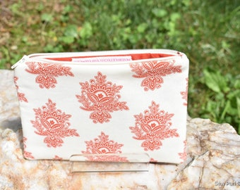 Small zippered pouch, small pouch, makeup bag, travel bag