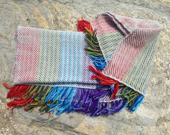 Handwoven Twill Throw Blanket- Cloudy Skies
