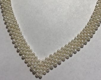 """16"""" Strand of Fresh Water Pearls with Sterling Silver Clasp"""