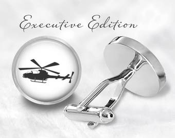 Helicopter Cufflinks - Chopper Cuff Links (Pair) Lifetime Guarantee (S0984)