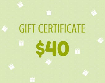 Gift Certificate 40 Dollars from Wooden Caterpillar Toys
