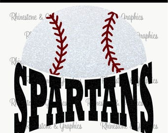 Spartans Baseball Instant download SVG, Eps, DXF Cutting File