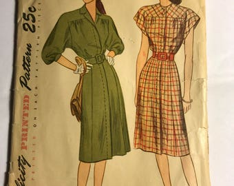 Late 1940s Simplicity Dress Pattern in Two Styles, B36