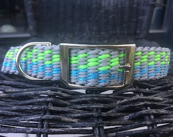 Blue Grey Green Dog Collar