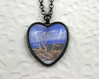View from Mesa Verde Oval Necklace with Glass Cabochon Photo Jewelry Photo Necklace Landscape Photography