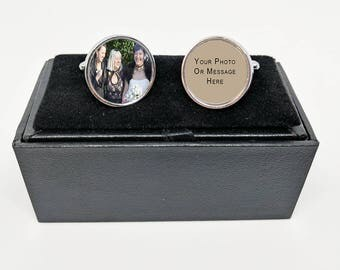 Cuff links, personalized wedding favours or groomsman gift, custom cufflinks, wedding favour, wedding gift