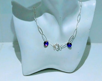 Sterling Silver and Swarovski Necklace.