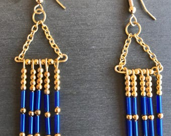 Earrings Egyptian gold