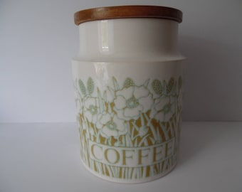 """A vintage Hornsea Pottery Coffee Storage Jar.""""Fleur"""" Hornsea Pottery Jar.Retro storage jar. Vintage container."""
