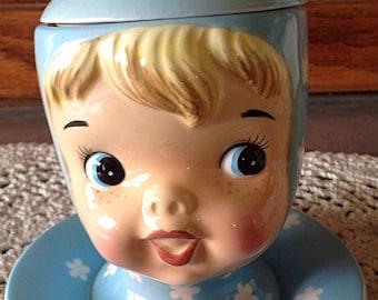 MISS CUTIE PIE Jam Jar/1950's Vintage Napco