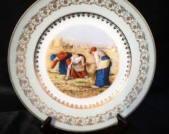 A great,French porcelain, Limoges,cabinet plate