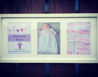 Personalised Baptism/Christening/First Holy Communion Frame
