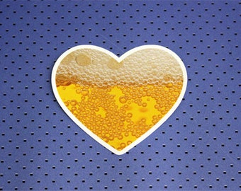 I Love Beer Bumper Sticker