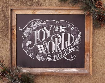 joy to the world chalkboard sign christmas chalkboard sign rustic holiday decor farmhouse