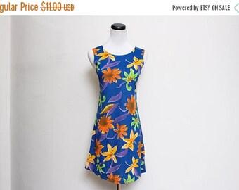 25% OFF VTG 90s Blue Summer Flower Clueless Mini Dress S/M