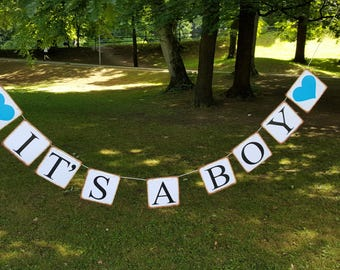 Pennant chain it's a boy, Babyshower baby