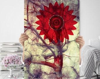 Boho Art Printable - Tree Wall Art - Spiritual Art - Natured Inspired - Meditation Art - Tree Photography - Digital Download - Sacred Art