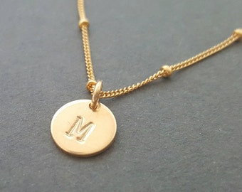 Choker Necklace with gold initial Gold filled Choker Chain personalised gift for mum best friend sister valentines day minimalist necklace