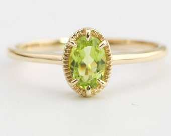 August's birthstone: peridot