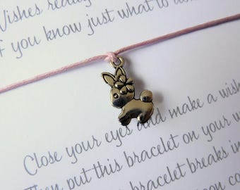 Easter gift mom etsy wish bracelet bunny rabbit charm mum to be mom gift baby shower negle Choice Image
