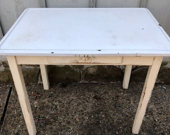 Vintage Enamel Kitchen Table