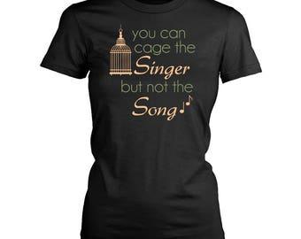 Singer womens fit T-Shirt. Funny Singer shirt.