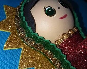 La Virgen de Guadalupe Foam Pencil Topper
