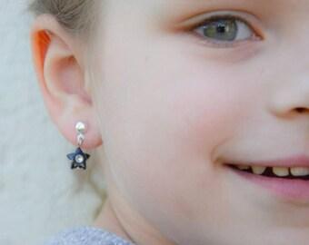 customizable color star earring