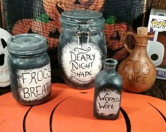 Nightmare before Christmas jars - Sally's Jars - Halloween decoration - home decor