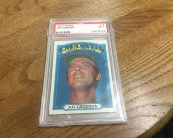 1972 Topp's PSA graded NM7 Joe Grzenda