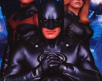 Batman Triple Threat Poster- George Clooney Batman Chris O'Donnell Robin-1997