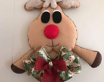 Christmas Reindeer- For Door Hanging