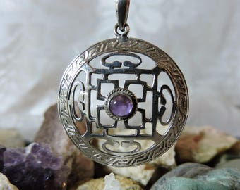 Amethyst Necklace Sterling Silver