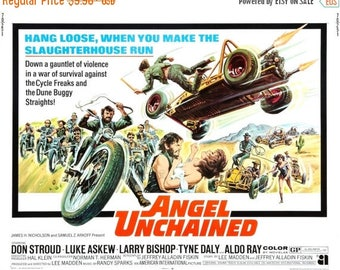 Summer Sale Angel Unchained Movie POSTER (1970) Thriller/Indie