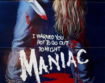 SPRING SALE: MANIAC Movie Poster Horror Slasher Gore